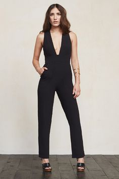 This is part of the Don't Call Me Cute Petites Collection - specially designed for ladies 5'4 and under. A really good jumpsuit can make you feel sexier than any dress can. The Cecille Jumpsuit is just a chic thing you can wear day or night.    https://www.thereformation.com/products/cecille-jumpsuit-black?utm_source=pinterest&utm_medium=organic&utm_campaign=PinterestOwnedPins