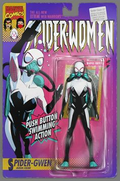 Spider-Gwen #7 - Spider-gwen Aqua Gear Action Figure Cover