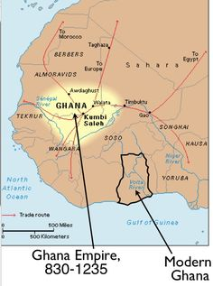 Ghana (Wagadu), the earliest known empire of the western Sudan, first entered the historical consciousness of North Africa near the end of the eighth century but probably originated long before. The empire's legacy is still celebrated in the name of the Republic of Ghana; apart from this, however, modern-day and ancient Ghana share no direct historical connections. Despite early texts that discuss ancient Ghana, such as The Book of Routes and Kingdoms by the eleventh-century