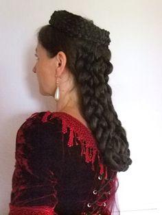Haarschmuck & Kopfputz - Haarteil Sissi Sisi zum ungarischen Krönungskleid - ein Designerstück von Zopfkronenliesl bei DaWanda