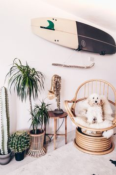 Home is where the heart is. We catch up with some surfer babes to see how they style their home and they give tips on how to give your home a beach-style makeover. Read more in the latest issue of SurfGirl magazine. Surfboard Decor, Surf Decor, Surfboard Storage, Decoration Surf, Surfer Bedroom, Surfer Girl Rooms, Beachy Room, Surf Room, Surf House