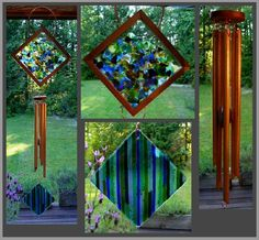 Coast Chimes -- love this use of fused glass with glorious wind chimes, great marriage of sight and harmony