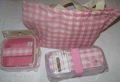 Japanese Bento Lunch Box Deli Pink Set (Belt & Bag Included) by Daiso. $12.00 Japanese Bento Lunch Box, Bento Box Lunch, Daiso, New Shop, Deli, Kitchen Storage, Storage Organization, Kitchenware, Home Kitchens