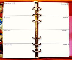 Personal Planner White 2013/12 Month Diary Refill by KiddyQualia, $11.50