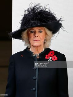 Camilla, Duchess of Cornwall attends the annual Remembrance Sunday Service at The Cenotaph on November 12, 2017 in London, England. This year marks the first time that Queen Elizabeth II watched the service from a balcony rather than lay her own wreath, instead Prince Charles, Prince of Wales laid her wreath on her behalf. (Photo by Max Mumby/Indigo/Getty Images)