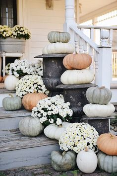 Liz Marie shares key elements in Cozy Farmhouse Fall Decor. She updates her seasonal decor in her sunroom, check out how it turned out. Thanksgiving Decorations, Seasonal Decor, Holiday Decor, Fall Home Decor, Autumn Home, Blue Fall Decor, Elegant Fall Decor, Autumn Fall, Winter