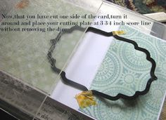 Crafters Corner : Flip-Card Tutorial using partial die-cutting! Now I can use ANY Thin-lit die, not just the Stampin Up Flip card dies!!