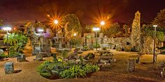 The Coral Castle, Miami, Florida Coral Castle, Rock Artists, Magic City, Wonders Of The World, Vacation, Night, Places, Miami Florida, Naples