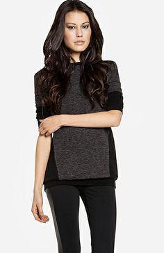 Slimming Color Block Sweatshirt