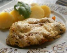 Schab zapiekany pod pierzynką warzywno-serową Apple Pie, Mashed Potatoes, Ethnic Recipes, Desserts, Food, Whipped Potatoes, Tailgate Desserts, Deserts, Smash Potatoes