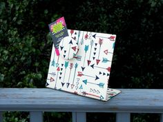 Freestanding Fabric Magnet Board - New Arrows Design - 7 x 6 Freestanding Desktop Countertop by rememorydesigns on Etsy
