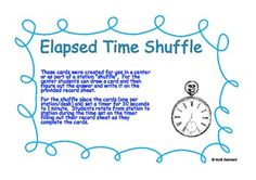 I created this elapsed time shuffle for a third grade math center.  The teacher (I am the curriculum coach) wanted a way to review elapsed time bef...