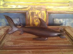 Hammer Shark IronWood Carving From Seri Native Indigenous from Hermosillo Mexico