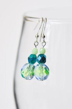 Glass beaded earrings by twocatsboutique on Etsy, $8.00