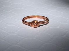 Rose Ring by MeekAndNeek on Etsy Gold Rings, Wedding Rings, Rose Gold, Engagement Rings, Handmade, Stuff To Buy, Etsy, Vintage, Jewellery