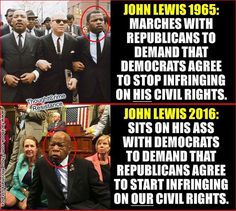 "work a half a century ago and is still singing the same old tired song, ""we shall overcome"". Lewis's comments about Trump are not only conspiratorial, unproven, and divisive, they also question the legitimacy of the nation's electoral process. Liberal Hypocrisy, Liberal Logic, Socialism, America Quotes, Political Articles, Conservative Politics, Civil Rights, Thought Provoking, We The People"