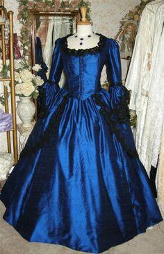 Gothic Silk Marie Antoinette Steampunk Gown by RomanticThreads, $895.00