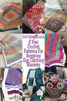 Gorgeous Eye Catching Blankets - Free Pattern Round Up | Pattern Plaza