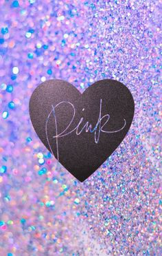 """Victoria's Secret glitter/sparkle """"Pink"""" phone wallpaper I made. Feel free to use it!"""