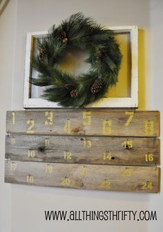 """A wonderful idea for a unique homemade take on the advent calendar. Via """"All Things Thrifty"""""""