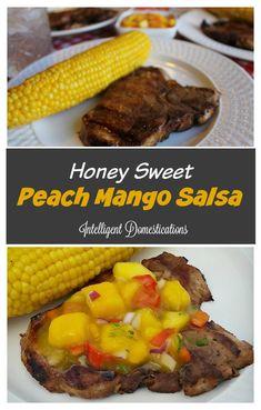 Quick and easy Honey Sweet Peach Mango Salsa recipe