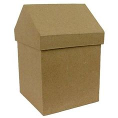 Store your crafts in a clever little box like this! Our paper mache box is also great for storing office supplies.