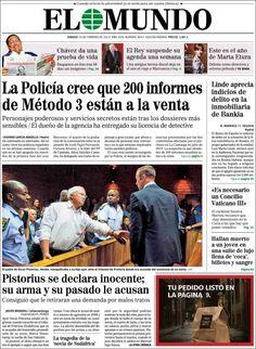 Los Titulares y Portadas de Noticias Destacadas Españolas del 16 de Febrero de 2013 del Diario El Mundo ¿Que le parecio esta Portada de este Diario Español?