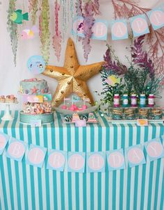 Mermaid Birthday Party Ideas | Photo 2 of 41 | Catch My Party