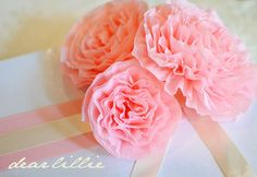 CREPE PAPER STREAMER PEONY  BY: Dear Lillie: Crepe Paper Peonies Tutorial