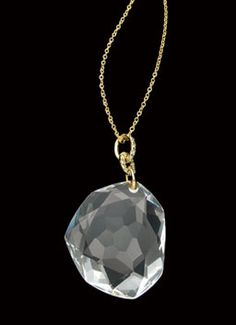 H.Stern 'Diane Von Furstenberg' Pendant Rock Crystal in 18K yellow gold with rock crystal and diamonds.