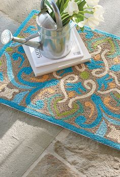 Inspired by the patterns on Moroccan tiles, our Maggie Outdoor Mat provides an artistic welcome at your doorway.