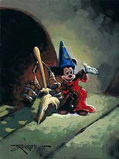"Enchanted Assistant. Rodel Gonzalez. Original Acrylic on Canvas. 8""x6"". (Unknown)."