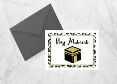 HAJJ MUBARAK!   Beautiful and printable Hajj Mubarak greeting! Print it out as…