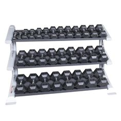 Dumbbell Set With Rack, Hex Dumbbell Set, Dumbbell Rack, Home Gym Garage, At Home Gym, Rubber Dumbbells, Tray Styling, Best Home Gym Equipment, Maximize Space