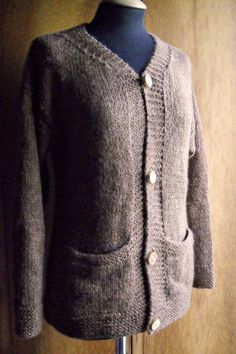 Cardigan sweater jumper brown mohair wool knit by lazydesigner