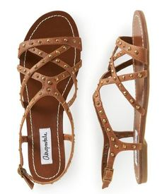 86fe76570 Amazon.com  Aeropostale Womens Studded Gladiator Sandals