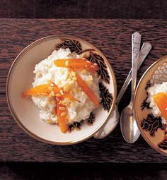 Vanilla-Coconut Rice Pudding with Sauteed Papaya