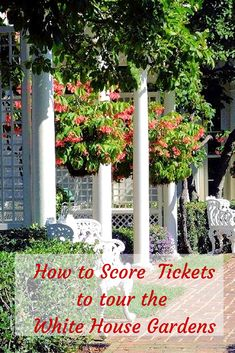 The spring and fall White House Garden tours are  free, but you have to have a ticket. Here's how to get yours.