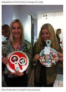 Christina & Moa at Designgalleriet, Stockholm; holding Isak. isak - beautiful happy things