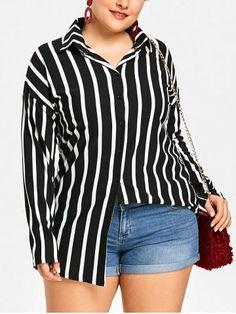 GET $50 NOW | Join RoseGal: Get YOUR $50 NOW!https://www.rosegal.com/plus-size-blouses/plus-size-drop-shoulder-striped-shirt-1970529.html?seid=6384889rg1970529