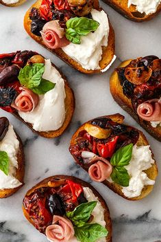 This delicious bruschetta recipe with seared cherry tomatoes, roasted garlic and burrata is the most decadent antipasto at your Italian dinner party, the most elegant appetizer at the bridal shower, picnic or a luxurious evening snack for one! Elegant Appetizers, Appetizers For Party, Appetizer Recipes, Yummy Recipes, Cooking Recipes, Yummy Food, Christmas Appetizers, Easter Appetizers, Italian Food Appetizers