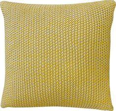 Mulberi Milford Moss Stitch Cushion - Freesia Yellow/Natural