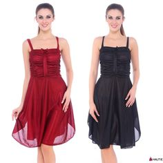 LADIES NIGHTIE WOMENS STRIPED NIGHTDRESS RED BLACK CHEMISE NIGHTWEAR SATIN PJ S
