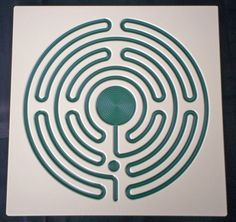 Labyrinth. The blue part is actually the path. Etsy, but  no longer available.