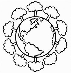 god created the earth coloring page God made Earth and Me Coloring