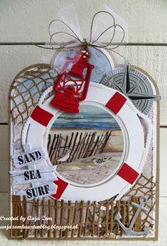 Anja Zom kaartenblog: Vier strandkaartjes
