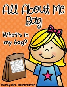 All About Me BagThis is a fun and easy way to get to know your students and for your students to get to know one another.Make copies for each student and attach to a paper lunch bag. Explain the assignment before sending home to students and share your own All About Me bag with them. All About Me Preschool Theme, All About Me Crafts, Preschool Themes, Preschool Lessons, Preschool Classroom, Kindergarten Activities, Classroom Ideas, Preschool Plans, All About Me Activities For Preschoolers