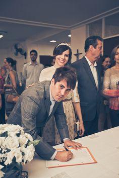 Fotos da cerimônia do meu casamento civil no cartório e do almoço no restaurante L'amitié, em São Paulo.