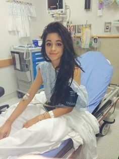 Camila in the hospital. How is she in the hospital and she looks like perfection??? She looks perf 24/7