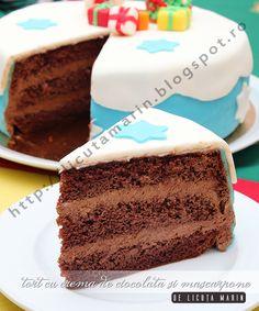Din bucătăria mea: Tort cu crema de ciocolata si mascarpone